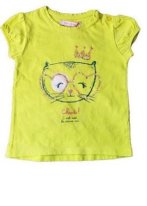 T-shirt jaune chat
