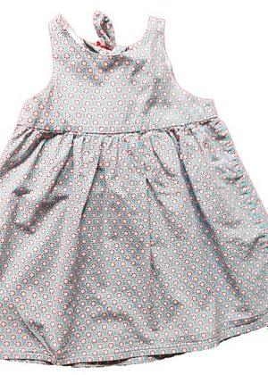 Robe imprimée nœud dos