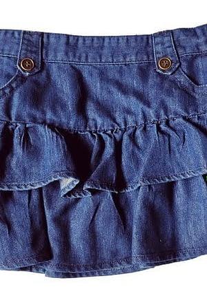 Jupe à volants en jean