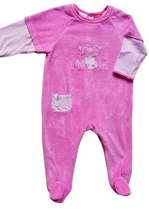 Pyjama en velours rose