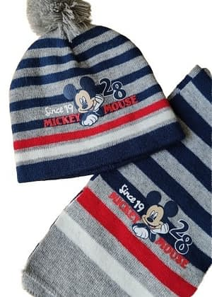 Bonnet + écharpe Mickey