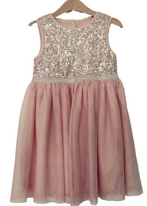 ROBE ROSE TENDRE TULLE ET SEQUINS