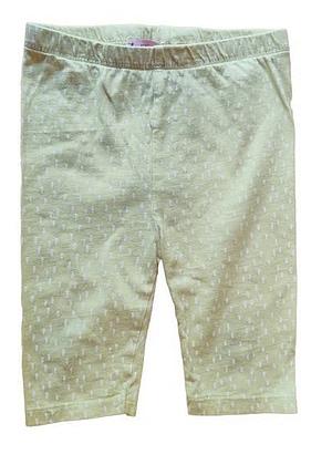 Legging short jaune motifs blancs