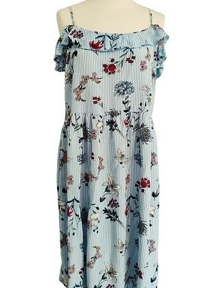 Robe estivale rayures et fleurs