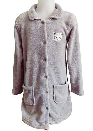 Robe de chambre grise renard