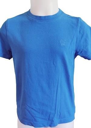 T-shirt bleu petite broderie