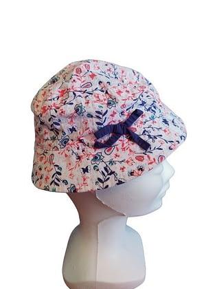 Chapeau fleuri petit nœud marine