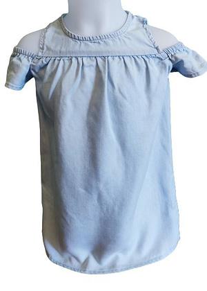 Robe en jean épaules nues