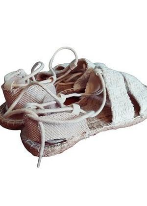 Sandales toile, corde et lacets
