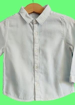 Chemise blanche tissu coton joli tissage