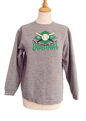 Sweat gris Baseball