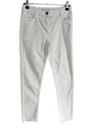 Pantalon blanc bas effilé