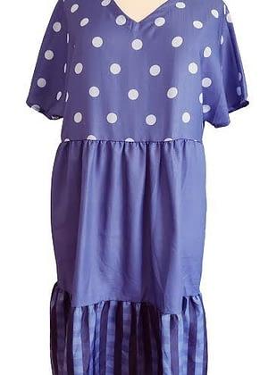 Robe bleue en 3 parties
