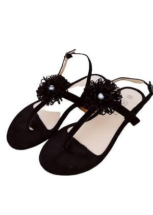 Sandales entre-doigts avec perle