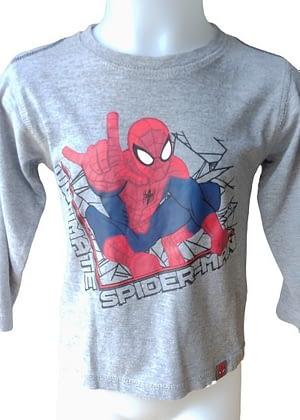 T-shirt gris manches longues Spiderman