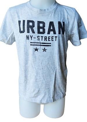 T-shirt gris clair imprimé