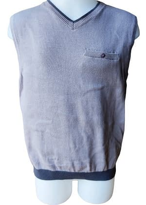 Pull en coton sans manches