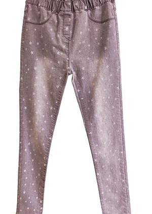 Jean taille élastique à étoiles