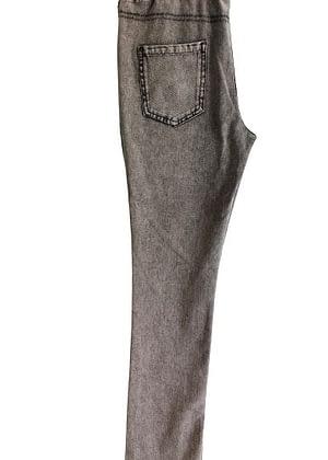 Jean souple gris taille élastiquée