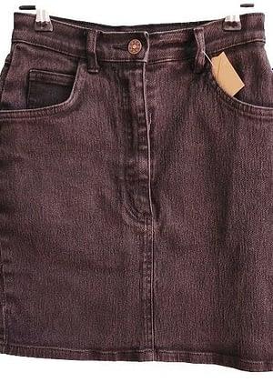 Jupe en jean noire taille haute