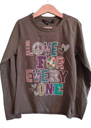T-shirt manche longue kaki love