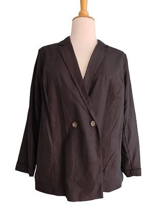 Veste noire type blazer