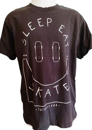 T-shirt noir imprimé skate