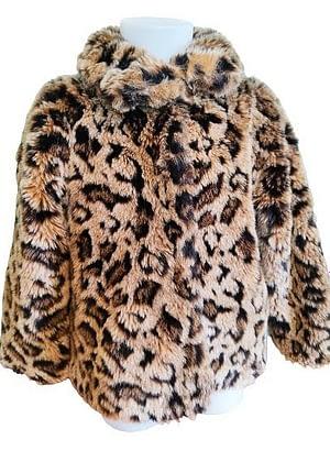 Veste fourrure synthétique léopard