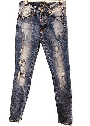 Jeans délavé troué