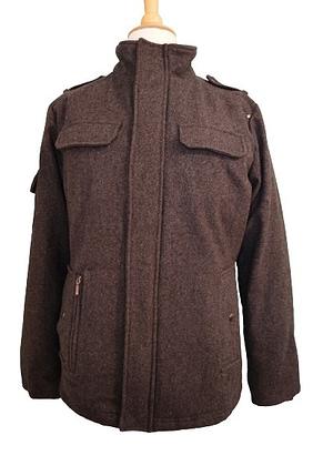 Manteau officier gris doublé