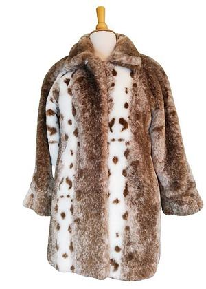 Manteau en fourrure synthétique bien chaud