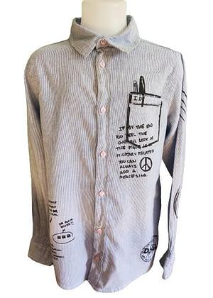Chemise à rayure motif imprimé desigual