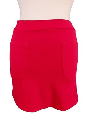 Jupe rouge deux poches fluide et souple