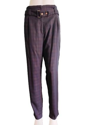 Pantalon à pinces écossais Camaïeu