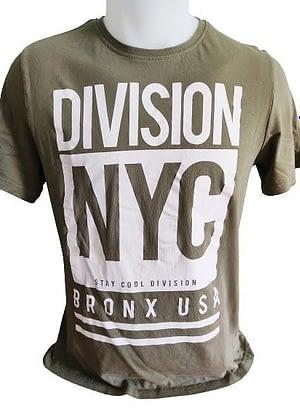 """T-Shirt kaki manches courtes """"Division New York"""""""