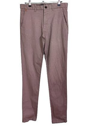Très beau pantalon ajusté Zara Man marron et gris
