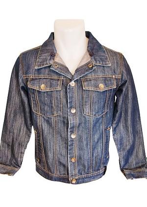 Veste en jean avec bouton pression