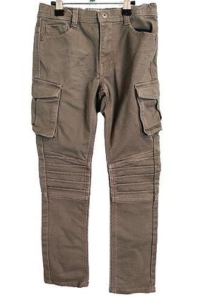 Pantalon jean kaki avec poche sur les cuisses vertbaudet