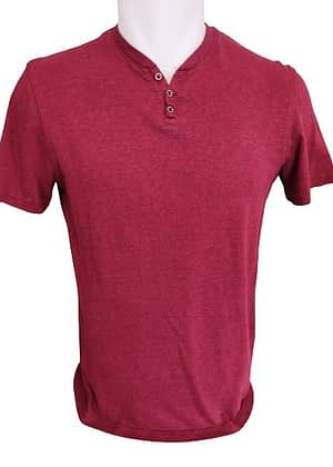 T-Shirt bordeaux à manches courtes Célio