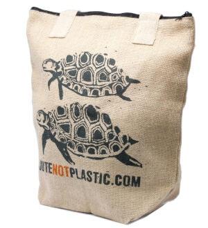 Sacs Cabas en toile de Jute Tortues Not Plastic