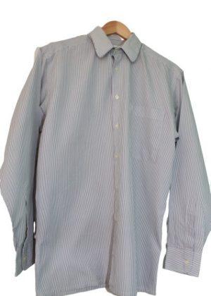Chemise rayée grise