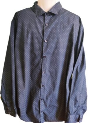 Chemise bleu marine tout petits motifs