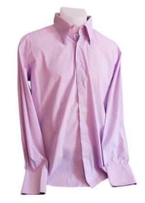 Chemise bi couleur violette Devred