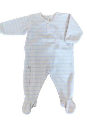 Pyjama à rayures Petit Bateau en velours