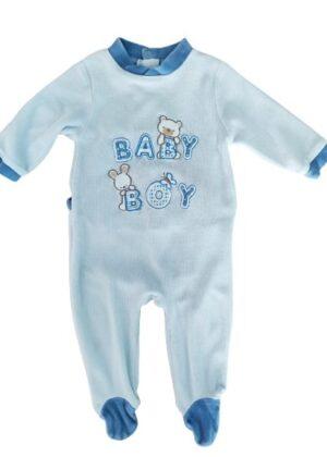 Pyjama bleu Baby Boy en velours