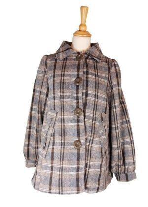 Manteau écossais en laine