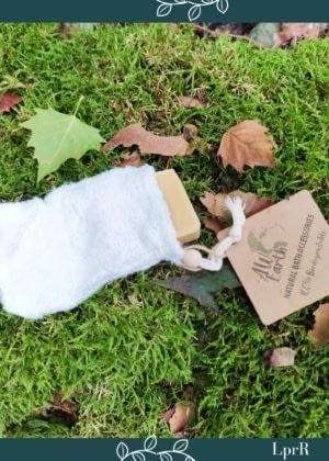 Gant/Porte-savon naturel en fibre de Bambou